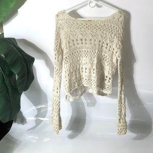 Hollister Spring Crochet Sweater Size Junior XS/S